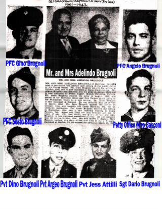 Brugnoli Family and their WWII military sons/son-in-law article