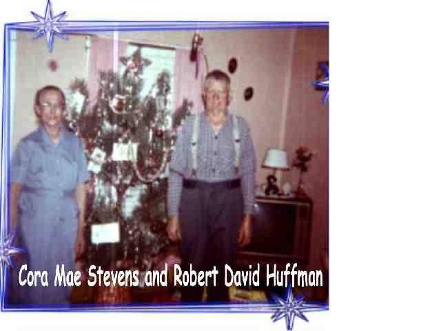 Cora and Robert Huffman Christmas 1963 Thomas/McComas, WV